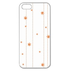 Background Salmon Pink White Motive Apple Seamless Iphone 5 Case (clear)