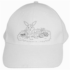 Coloring Picture Easter Easter Bunny White Cap