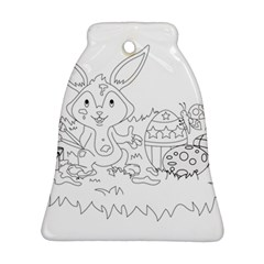 Coloring Picture Easter Easter Bunny Bell Ornament (two Sides)