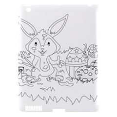 Coloring Picture Easter Easter Bunny Apple Ipad 3/4 Hardshell Case (compatible With Smart Cover) by Sapixe