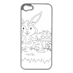 Coloring Picture Easter Easter Bunny Apple Iphone 5 Case (silver)