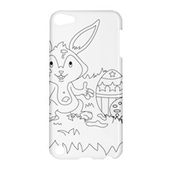 Coloring Picture Easter Easter Bunny Apple Ipod Touch 5 Hardshell Case by Sapixe