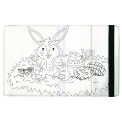 Coloring Picture Easter Easter Bunny Apple Ipad 2 Flip Case by Sapixe