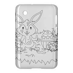 Coloring Picture Easter Easter Bunny Samsung Galaxy Tab 2 (7 ) P3100 Hardshell Case