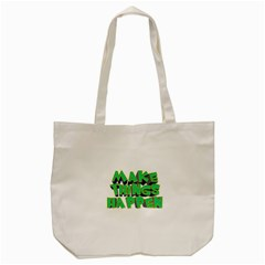 Act Do Text Make Tackle Implement Tote Bag (cream) by Sapixe