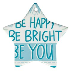 Motivation Positive Inspirational Star Ornament (two Sides)