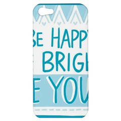 Motivation Positive Inspirational Apple Iphone 5 Hardshell Case by Sapixe