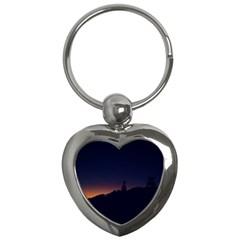 Nature Night Colorful Landscape Key Chains (heart)