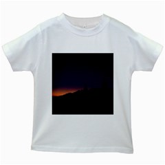 Nature Night Colorful Landscape Kids White T-shirts