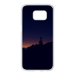 Nature Night Colorful Landscape Samsung Galaxy S7 Edge White Seamless Case