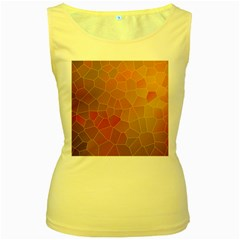 Colors Modern Contemporary Graphic Women s Yellow Tank Top by Sapixe