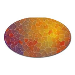 Colors Modern Contemporary Graphic Oval Magnet