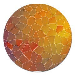 Colors Modern Contemporary Graphic Magnet 5  (round) by Sapixe