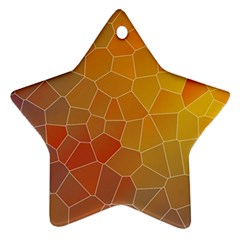Colors Modern Contemporary Graphic Star Ornament (two Sides)
