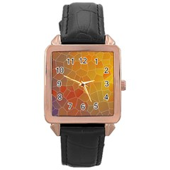 Colors Modern Contemporary Graphic Rose Gold Leather Watch