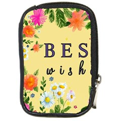 Best Wishes Yellow Flower Greeting Compact Camera Cases by Sapixe