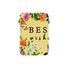 Best Wishes Yellow Flower Greeting Apple Ipad Mini Protective Soft Cases by Sapixe