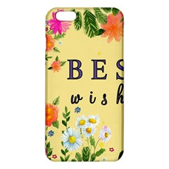 Best Wishes Yellow Flower Greeting Iphone 6 Plus/6s Plus Tpu Case