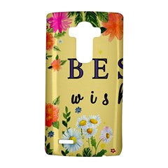 Best Wishes Yellow Flower Greeting Lg G4 Hardshell Case by Sapixe