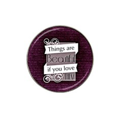 Beautiful Things Encourage Hat Clip Ball Marker