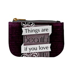 Beautiful Things Encourage Mini Coin Purses by Sapixe