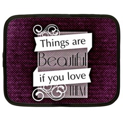 Beautiful Things Encourage Netbook Case (xl)  by Sapixe