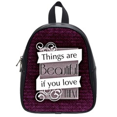 Beautiful Things Encourage School Bag (small) by Sapixe