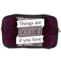 Beautiful Things Encourage Toiletries Bags by Sapixe