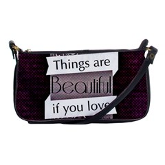 Beautiful Things Encourage Shoulder Clutch Bags by Sapixe