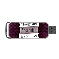 Beautiful Things Encourage Portable Usb Flash (one Side) by Sapixe