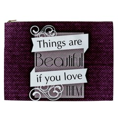 Beautiful Things Encourage Cosmetic Bag (xxl)  by Sapixe