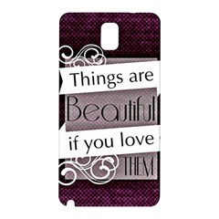 Beautiful Things Encourage Samsung Galaxy Note 3 N9005 Hardshell Back Case
