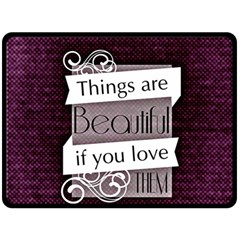 Beautiful Things Encourage Double Sided Fleece Blanket (large)  by Sapixe