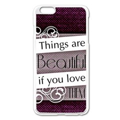 Beautiful Things Encourage Apple Iphone 6 Plus/6s Plus Enamel White Case by Sapixe