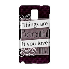 Beautiful Things Encourage Samsung Galaxy Note 4 Hardshell Case