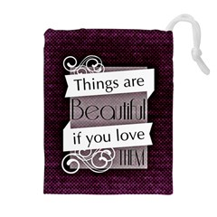 Beautiful Things Encourage Drawstring Pouches (extra Large) by Sapixe