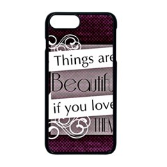 Beautiful Things Encourage Apple Iphone 8 Plus Seamless Case (black)