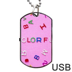 Pattern Desktop Sign Aerial Dog Tag Usb Flash (one Side)