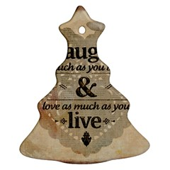 Motivational Calligraphy Grunge Christmas Tree Ornament (two Sides) by Sapixe