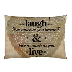 Motivational Calligraphy Grunge Pillow Case (two Sides)