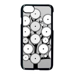 Gears Tree Structure Networks Apple Iphone 8 Seamless Case (black)
