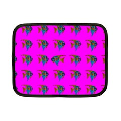 Opposite Way Fish Swimming Netbook Case (small)