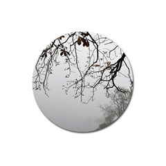 Tree Nature Landscape Magnet 3  (round)