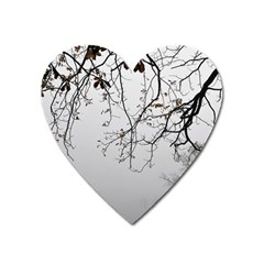 Tree Nature Landscape Heart Magnet by Sapixe