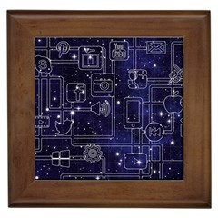 Networks Internet Social Framed Tiles