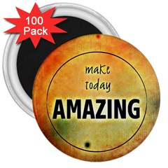 Beautiful Day Cheerful Munter 3  Magnets (100 Pack) by Sapixe