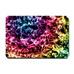 Smoke Colors Soul Black Blue Small Doormat  by Sapixe