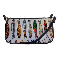 Fish Sardines Motive Pattern Shoulder Clutch Bags by Sapixe