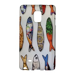 Fish Sardines Motive Pattern Galaxy Note Edge by Sapixe