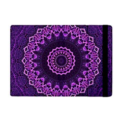 Mandala Purple Mandalas Balance Apple Ipad Mini Flip Case by Sapixe